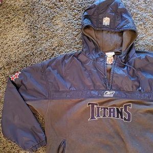 Vintage reebok tennessee titans throw over jacket